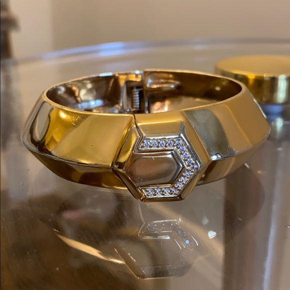 India Hicks Casino Cuff Gold Bracelet